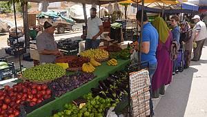 Karaman'da semt pazarının ateşi söndü