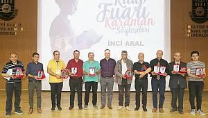 Kitap Fuarında Karamanlı Yazarlara plaket takdim edildi