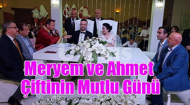Meryem ve Ahmet çiftinin mutlu günü