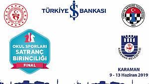 Okul Sporları Satranç Türkiye Birinciliği Finali Karaman'da