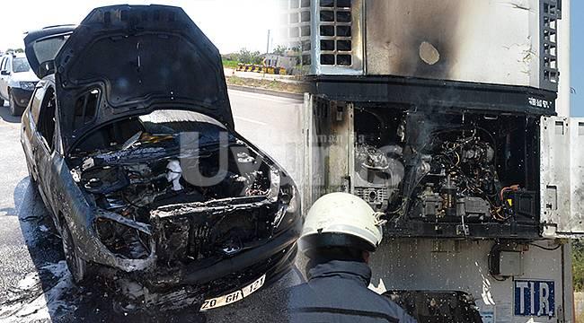 Otomobil kullanılmaz hale geldi, dorsenin kliması yandı