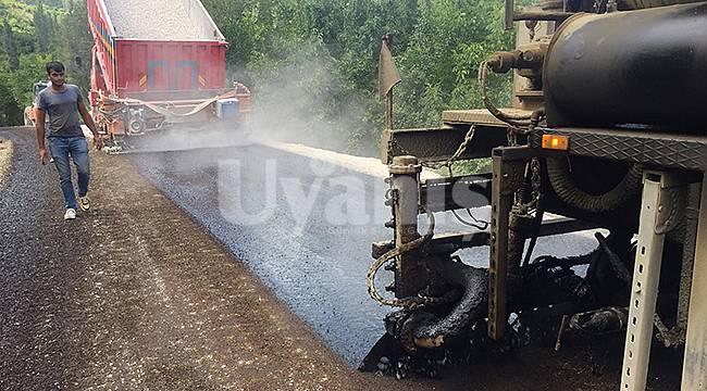Karaman'da köylerde yol çalışmaları devam ediyor