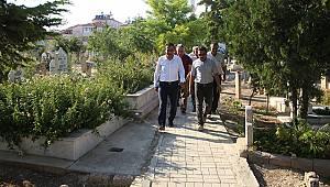 Kazalpa Mezarlığında çevre düzenleme çalışması yapıldı