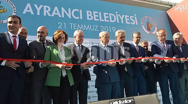 MHP Lideri Bahçeli Ayrancı İlçesini ziyaret etti