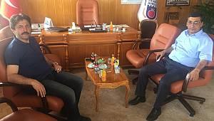 Osman Sağlam'dan başkan Çavaş'a ziyaret