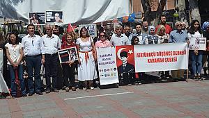 Karaman'da Emine Bulut için 'Ölmek istemiyoruz' eylemi