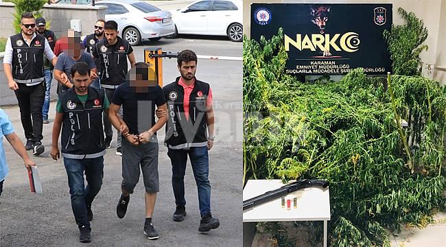 Karaman'da kilolarca uyuşturucu yakalandı