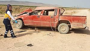 Karaman'da kullandığı aracın altında kalarak can verdi