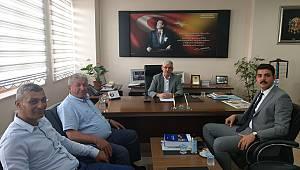 Kaymakam Atak'tan Başkan Kapar'a ziyaret