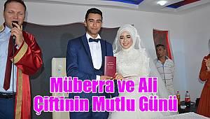 Müberra ve Ali çiftinin mutlu günü