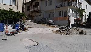Ermenek'te Bozulan Yollarda Çalışma Yapılıyor