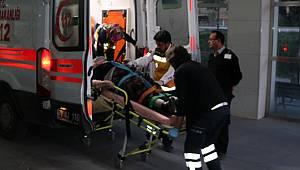 Kamyonun çarptığı yaşlı kadın yaralandı
