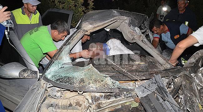 Karaman'da feci kaza: 4 yaralı