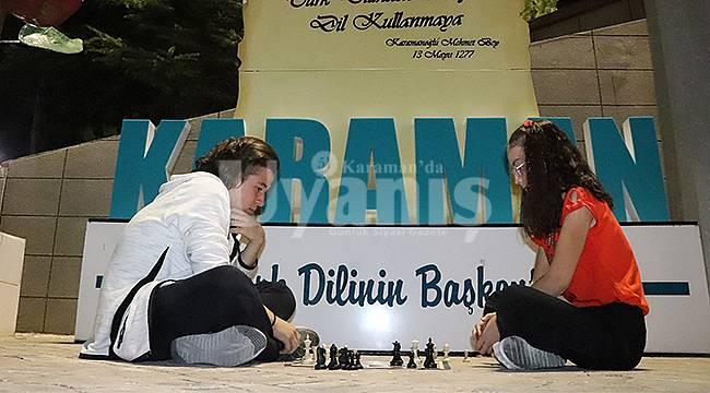 Karaman'da Sokakta Satranç Var Etkinliği