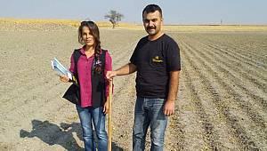 Karaman'da arazilerden toprak numunesi alındı