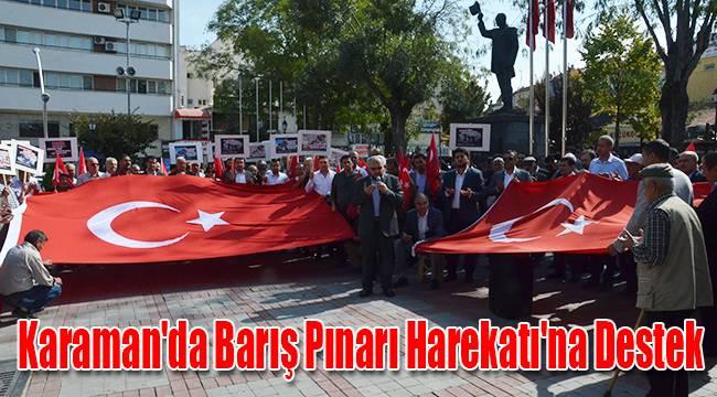 Karaman'da Barış Pınarı Harekatı'na Destek