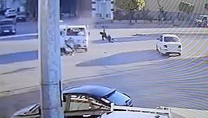 Karaman'da feci kaza metrelerce havaya fırladı