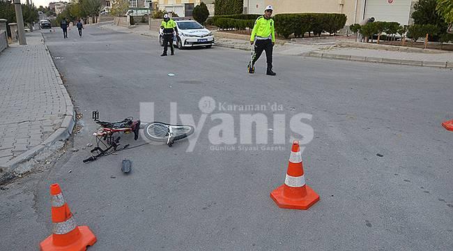 Karaman'da Otomobil Bisikletli Çocuğa Çarptı