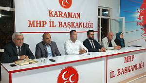 Karaman MHP'de genişletilmiş istişare toplantısı