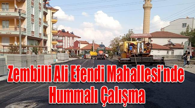 Zembilli Ali Efendi Mahallesi'nde Hummalı Çalışma