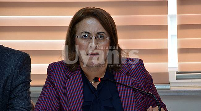 CHP Kadın Kolları Genel Başkanı Köse, Karaman'da