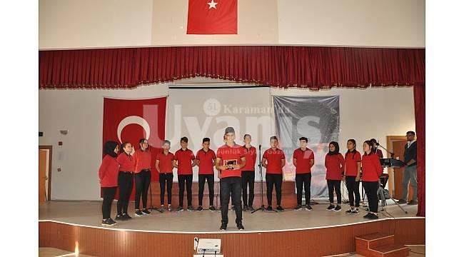 Ermenek'te Atatürk anıldı
