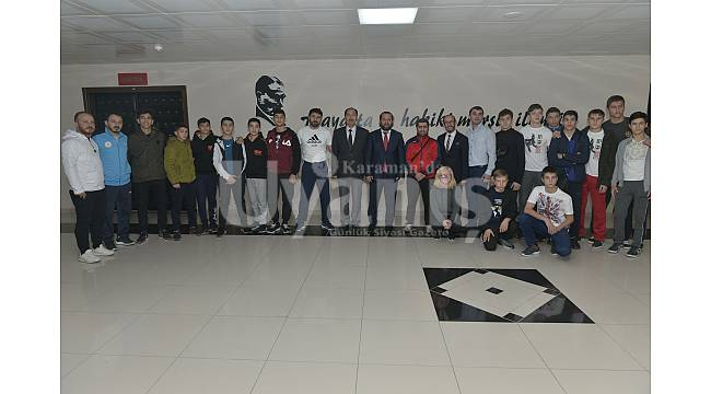 Judoculardan Rektör Akgül'e ziyaret