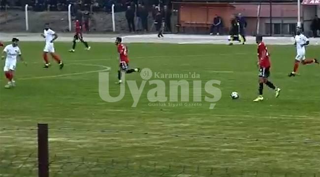 Karaman Belediyespor Deplasmanda 4 Gol Yedi