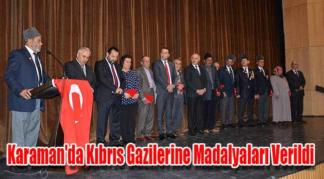 Karaman'da Kıbrıs Gazilerine madalyaları verildi