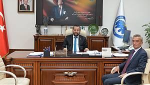 Kazancı Belediye Başkanı Rektör Akgül'ü Ziyaret Etti