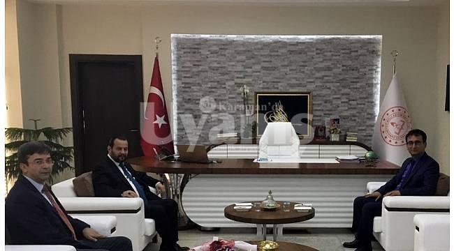 KMÜ Rektörü Akgül'den Çalışkan'a Ziyaret