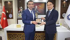 Kore Kültür Müsteşarı Karaman Belediyesi'ni Ziyaret Etti