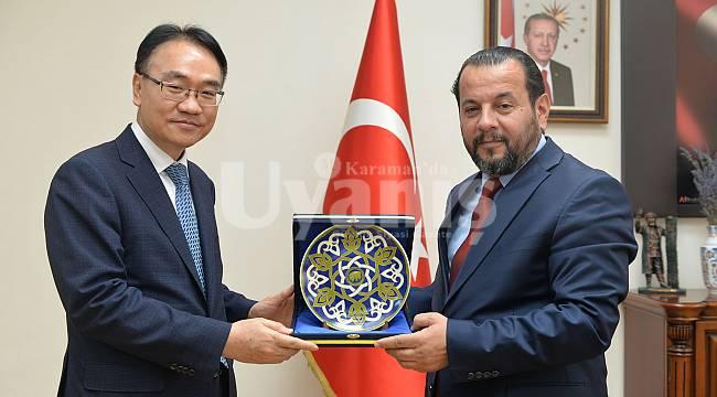 Koreli Heyetten Rektör Akgül'e Ziyaret