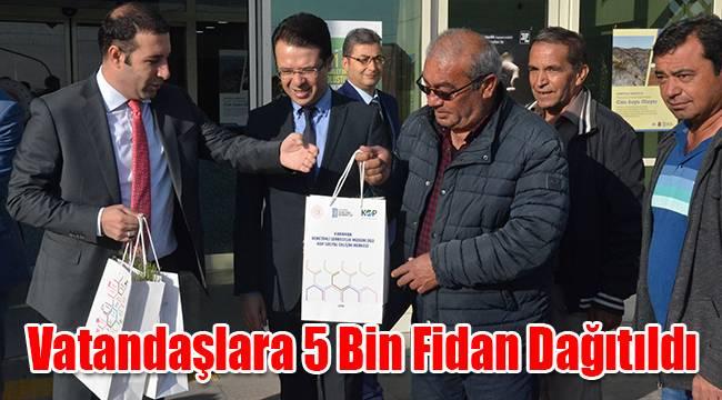 Vatandaşlara 5 Bin Fidan Dağıtıldı