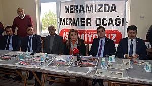 CHP Heyeti Mermer Ocakları İçin Karaman'a Geldi