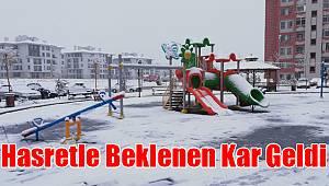 Karaman'da hasretle beklenen kar geldi