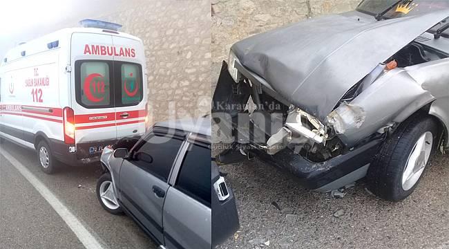 Karaman'da Yaralıları Taşıyan Ambulansa Araç Çarptı: 7 Yaralı