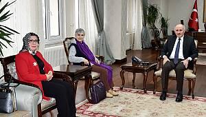 Mehmet Akif Ersoy'un Torunu Selma Ersoy Argon'dan Vali Meral'e Ziyaret