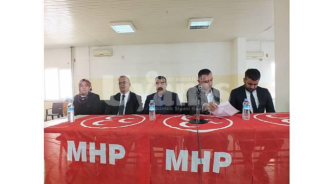 MHP Karaman Teşkilatı istişare toplantısını Sarıveliler'de yaptı