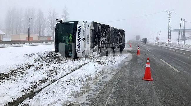 Sertavul'da otobüs devrildi!