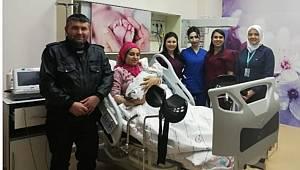 Karaman'da 2020'nin ilk bebeği dünyaya geldi