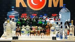 Karaman'da sahte içki operasyonu