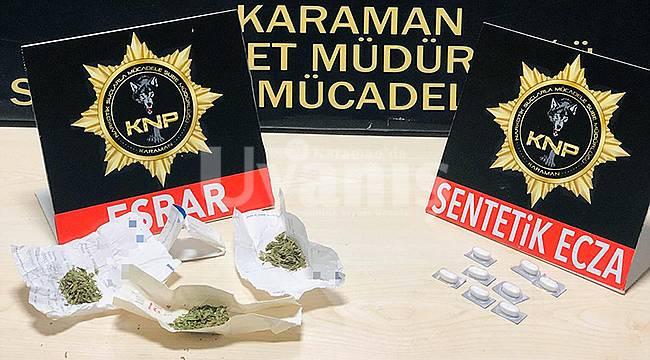 Karaman'da uyuşturucu operasyonu 3 gözaltı
