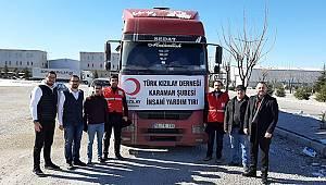 Karaman'dan Elazığ'a Yardım