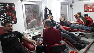 Sanayi esnafından kan bağışına destek