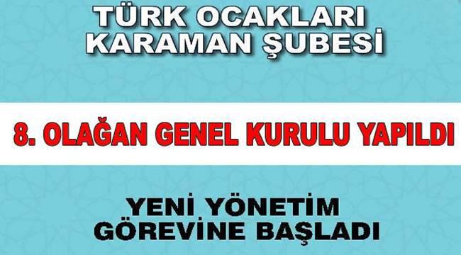 Türk Ocakları 8. Olağan Genel Kurulu Yapıldı