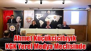 Ahmet Küçükcicibıyık KGK Yerel Medya Meclisinde