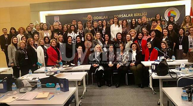 Kadın girişimciler kurulu bilgilendirme seminerine katıldı
