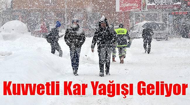 Karaman'a kuvvetli kar yağışı geliyor