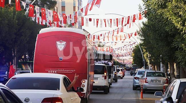 Karaman Belediyespor'dan şampiyonluk konvoyu